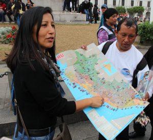 Lima - Gids Geraldina op Plaza San Martin