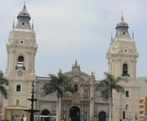 Lima - De kathedraal op Plaza de Armas