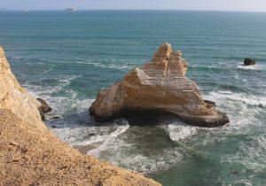 Rotsformatie El Catedra in Paracas natuurreservaat