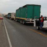 Wegblokkade op weg naar Arequipa