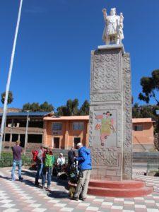 Amantani - Centrale plein in het dorp