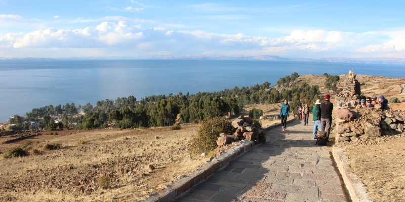Amantani - Avondwandeling, de klim omhoog naar Patcha Mama