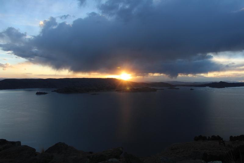 Amantani - zonsondergang