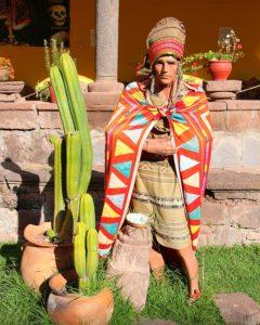 Muesum in Andahuaylillas - Beeltenis Inca strijder