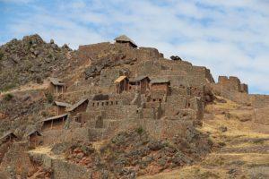 Pisac - De heuveltop met Inca bouwsels