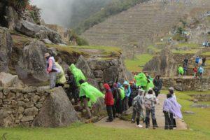 Machu Picchu in de regen