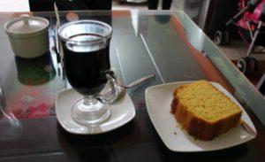 Aquas Calientes - Koffie met cake