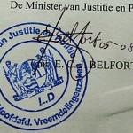 Verblijfsvergunning - Stempel